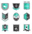 Dentist badges vector image vector image