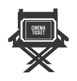 director chair with cinema icon vector image vector image