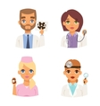 Doctors spetialists faces set vector image