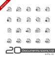 Documents icons basics vector | Price: 1 Credit (USD $1)