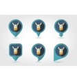 Donkey mapping pins icons vector image vector image