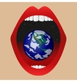 Eat the world vector image