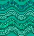 Ethnic seamless pattern of waves vector image vector image