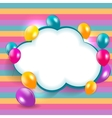 Glossy Balloons Background EPS vector image