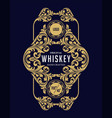 gold frame label whiskey vector image vector image