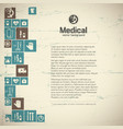 healthcare background vector image vector image