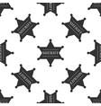 hexagonal sheriff star icon seamless pattern vector image vector image