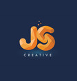 js letter with origami triangles logo creative