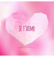 Love triangular heart card vector image