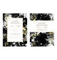luxury invitation with ink splash texture vector image vector image