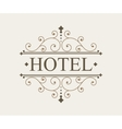 Luxury logo and monogram line art template vector image vector image
