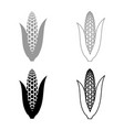 maize icon set grey black color vector image