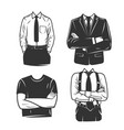 mans profile with a folded arms vector image vector image