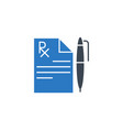 medical record related glyph icon vector image