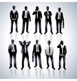 men in black suits vector image vector image