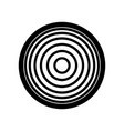 meridians from top view filled black icon vector image
