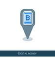 mobile bitcoin business app pin map icon vector image vector image