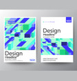 modern minimal abstract purple blue block shape vector image vector image