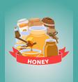 organic honey natural products cartoon vector image