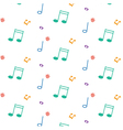 pattern with music notes vector image