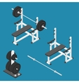 Press bench stand vector image