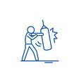 punchbag line icon concept punchbag flat vector image vector image