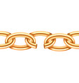 realistic gold broken chain texture yellow color vector image vector image
