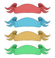 ribbon banners bright colored vector image vector image