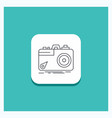 round button for camera photography capture photo vector image