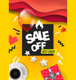 sale banner design template color geometric vector image vector image