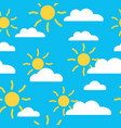 seamless basummer pattern with sun and cloud vector image vector image