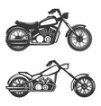 set of motorcycle icons isolated on white vector image