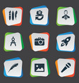 set of simple creative vector image vector image