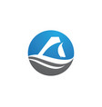 shark logo template vector image