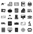 Skills icons set simple style