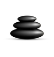 stack spa stones isolated on white vector image
