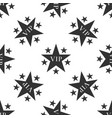 star vip with circle of stars seamless pattern vector image