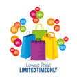 store sale bags to special online offer vector image vector image