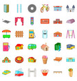 street icons set cartoon style vector image vector image