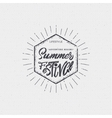 Summer festival - poster stamp badge insignia vector image vector image