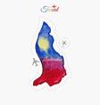 Travel around the world Liechtenstein Watercolor vector image vector image