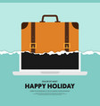 travel around world on holiday and remote vector image