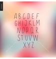 uppercase alphabet 3 vector image