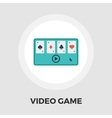 Video game icon flat vector image vector image