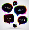web speech bubbles vector image