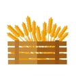 Wheat Concept in Flat Design vector image