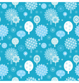winter forest seamless texture with decorative tre vector image vector image