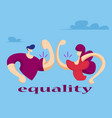 woman and man show their muscles vector image vector image