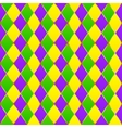 Green purple yellow grid Mardi gras seamless vector image