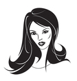 Modern girl with a new hairstyle vector image